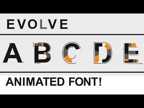 After Effects Animated Font Free Download Evolve After