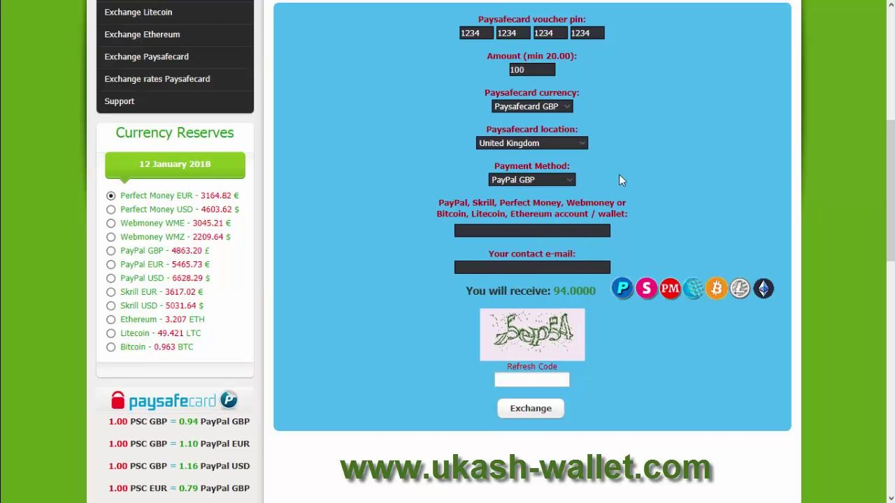 Withdraw Amount Paysafecard To Paypal Skrill Perfect Money Wm Ing