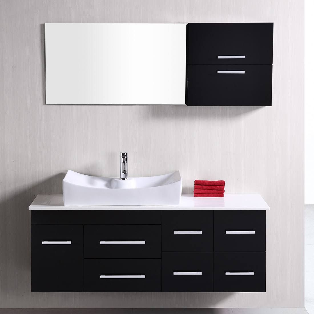 Design Element USA DEC1101 Springfield 53-In Single Sink Bathroom ...