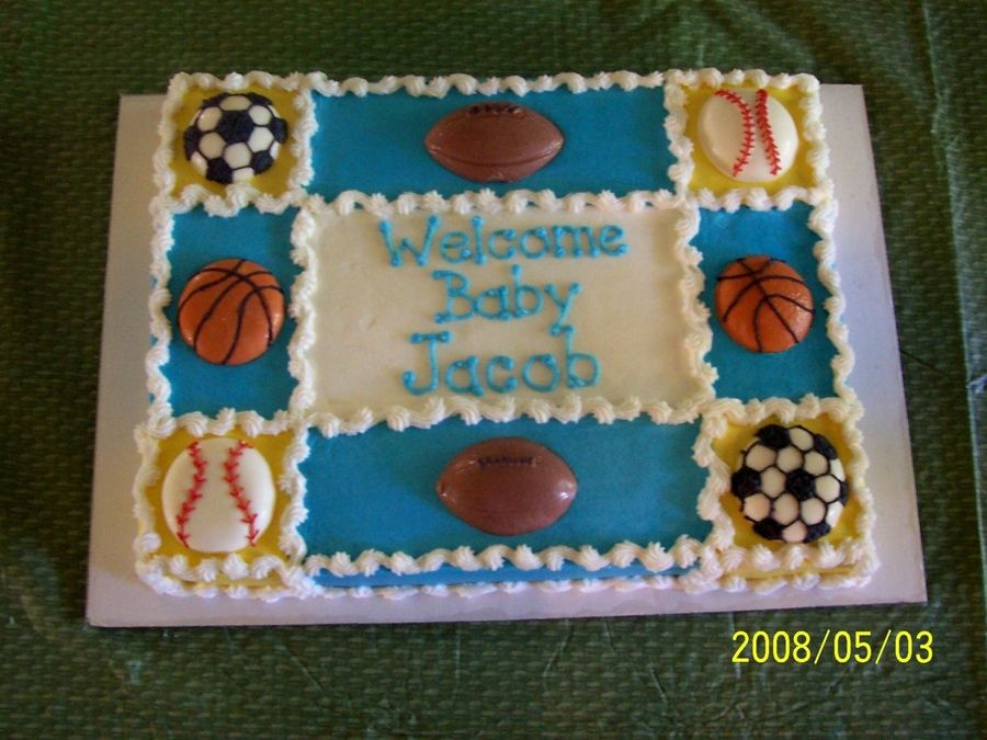 Sports themed baby shower  Baby Shower | Recetas ...
