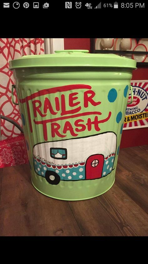 ~ Image only....brilliant paint job for garbage can