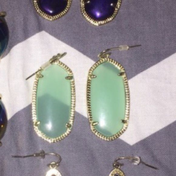 Elle Kendra Scott Elle(smaller ones) pretty lighter clear green Kendra Scott Jewelry Earrings