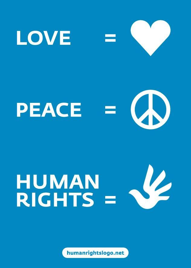 Love Peace Human Rights With New International Symbol For Human