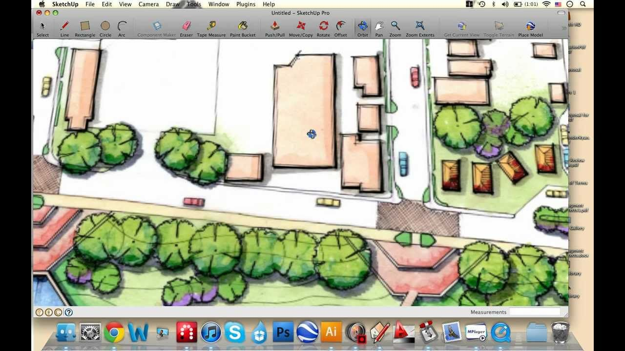 Just The Basics 1 Import Reference Image Sketchup Tutorials For