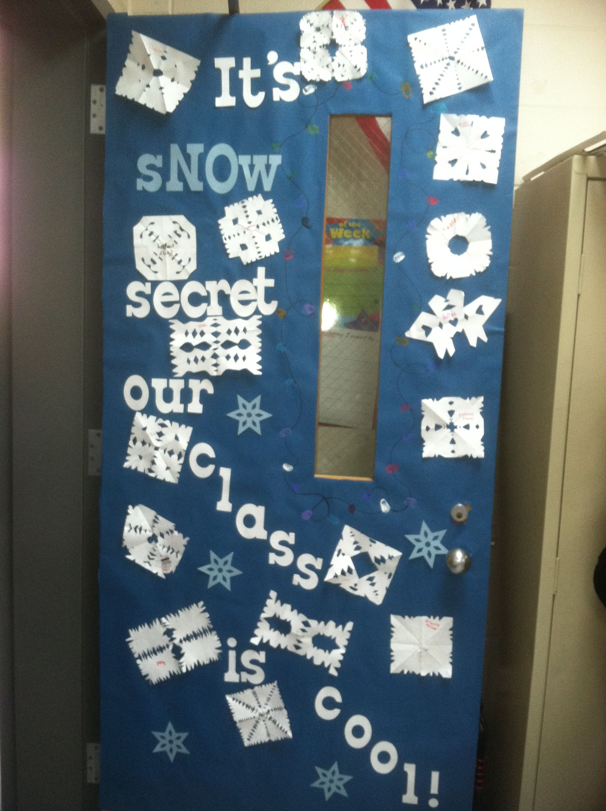 Winter Classroom Door But Great Inspiration Using The Word