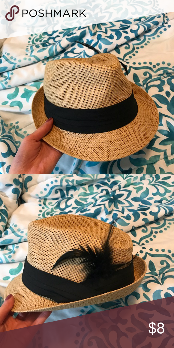 1c8e81680a4 Fedora Fedora hat great for the summer & the beach! This fedora is tan lined