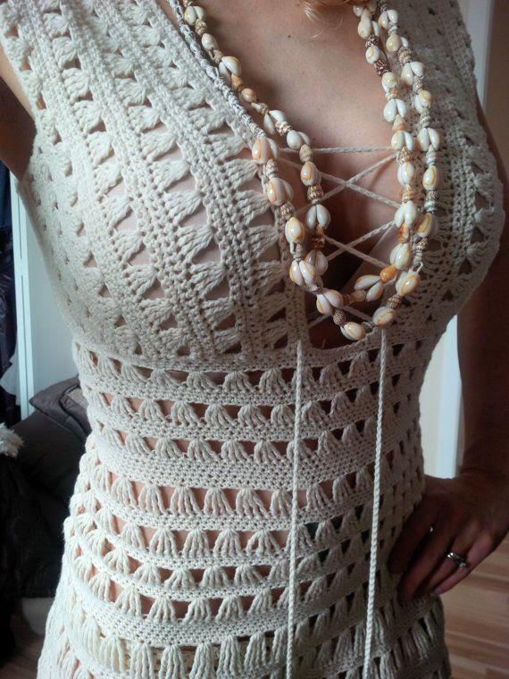 PATTERN ONLY Just Go With it Jennifer Aniston Crochet Dress Pattern ...