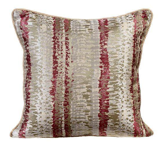 Designer Red Beige Gold Decorative Pillow Cover Gorgeous Red And Gold Decorative Pillows
