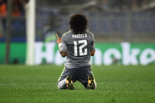 Marcelo after the final whistle (Roma 0-2 Real Madrid)