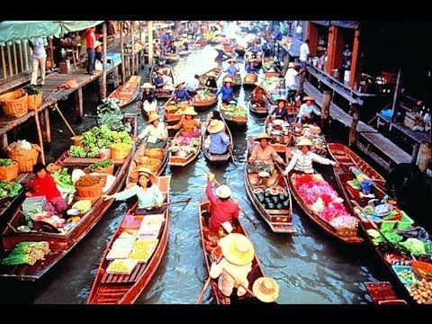 8a66898ae6 Floating Market Bangkok Thailand Damnoen Saduak - Part 1 - Bkk Trip Part 13  - YouTube