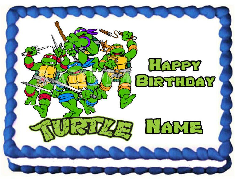 Teenage Mutant Ninja Turtles Edible Cake Topper Image Decoration Galimelidesigns Ninja Turtle Cupcakes Edible Cake Toppers Edible Printing