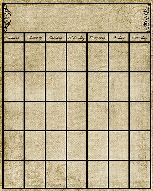 Calendar Template  Free Printable Dry Erase Markers And Vintage