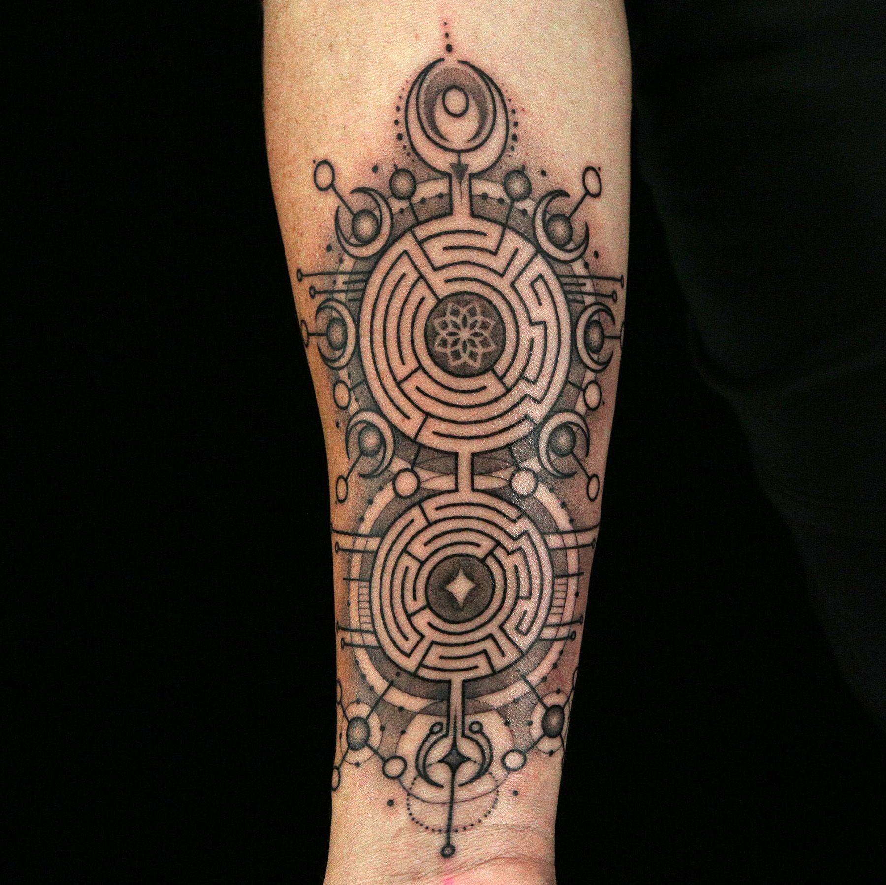Maze Tattoo by Daniel Silva Maze tattoo, Ink master