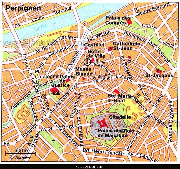 France Map Perpignan