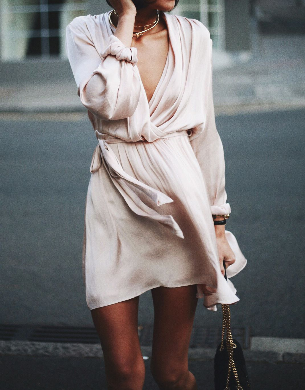 Blush silk wrap dress dresses pinterest silk wrap wrap