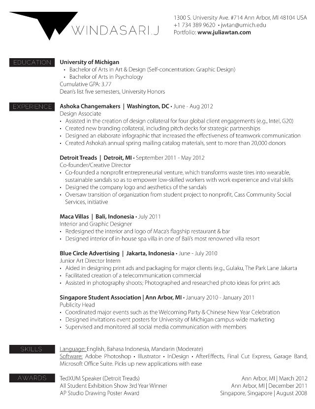 Resume - Windasarij Portfolio Studio ideas Pinterest - resume for non profit