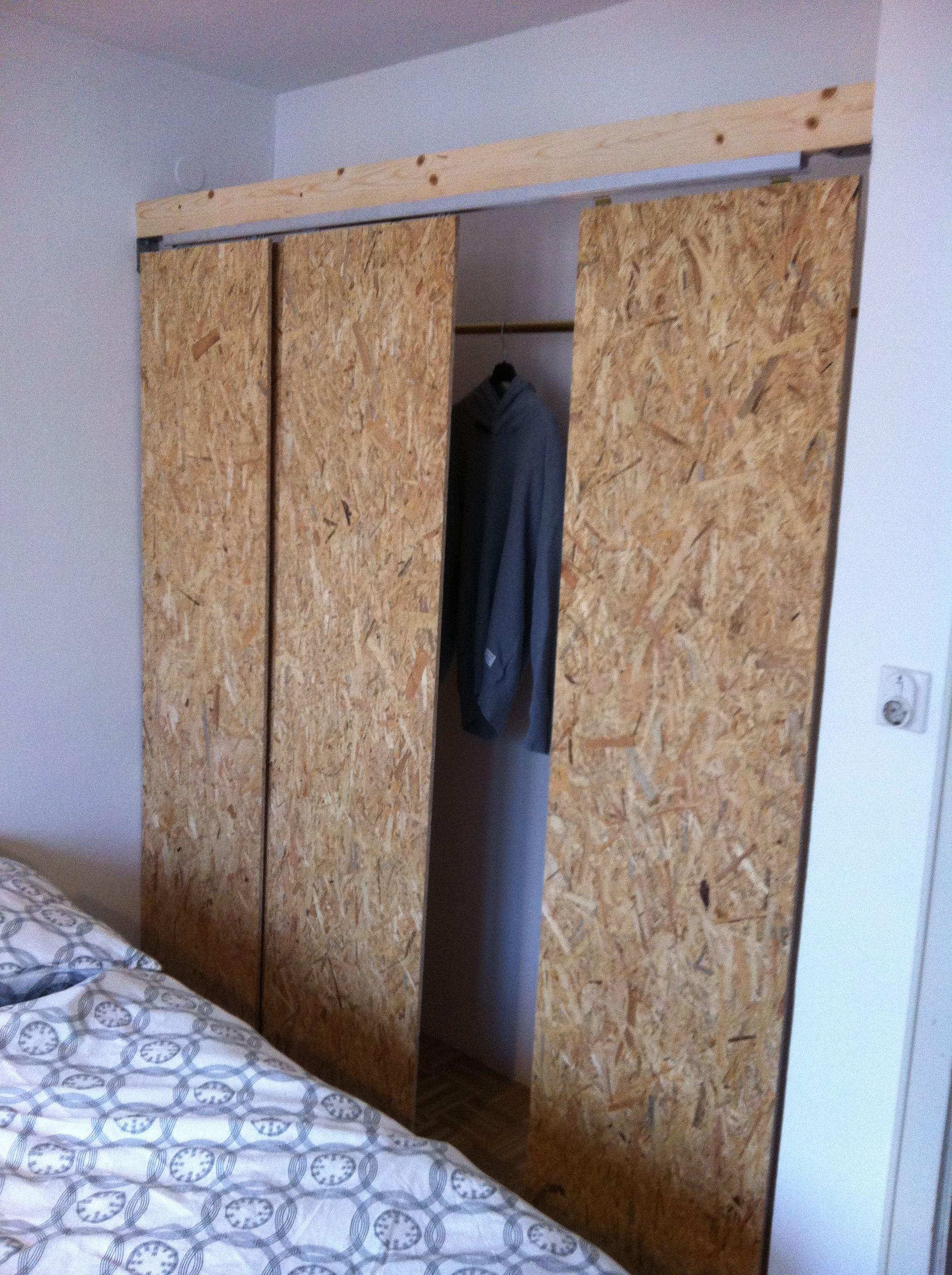 Porte Placard Coulissante Diy osb wardrobe panels more   osb, aménagement intérieur maison