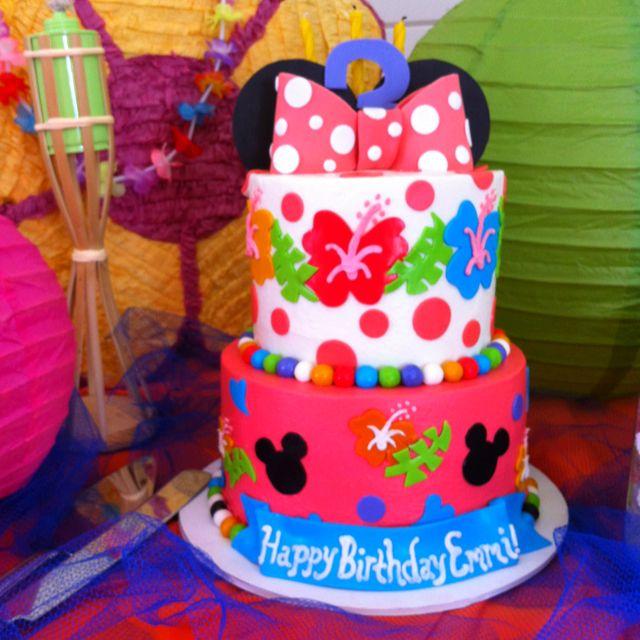 Emmis Minnie Mouse Luau Birthday Mickey 2nd Parties