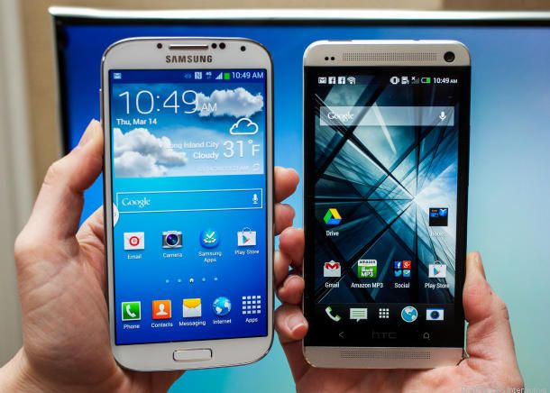 Samsung Galaxy S4 vs  iPhone 5, HTC One, and BlackBerry Z10