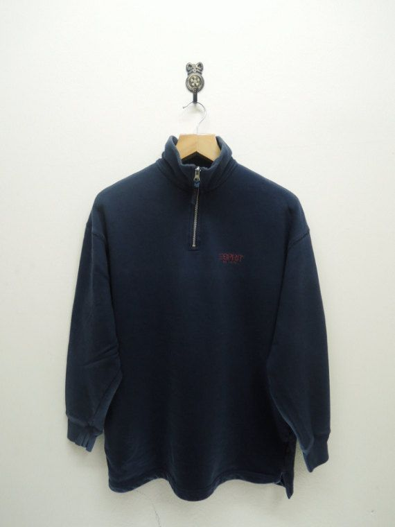 Vintage 90's WILSON Tennis Sweatshirt Jumper Half Zipper M Size Nice Design 3eQuGfgh