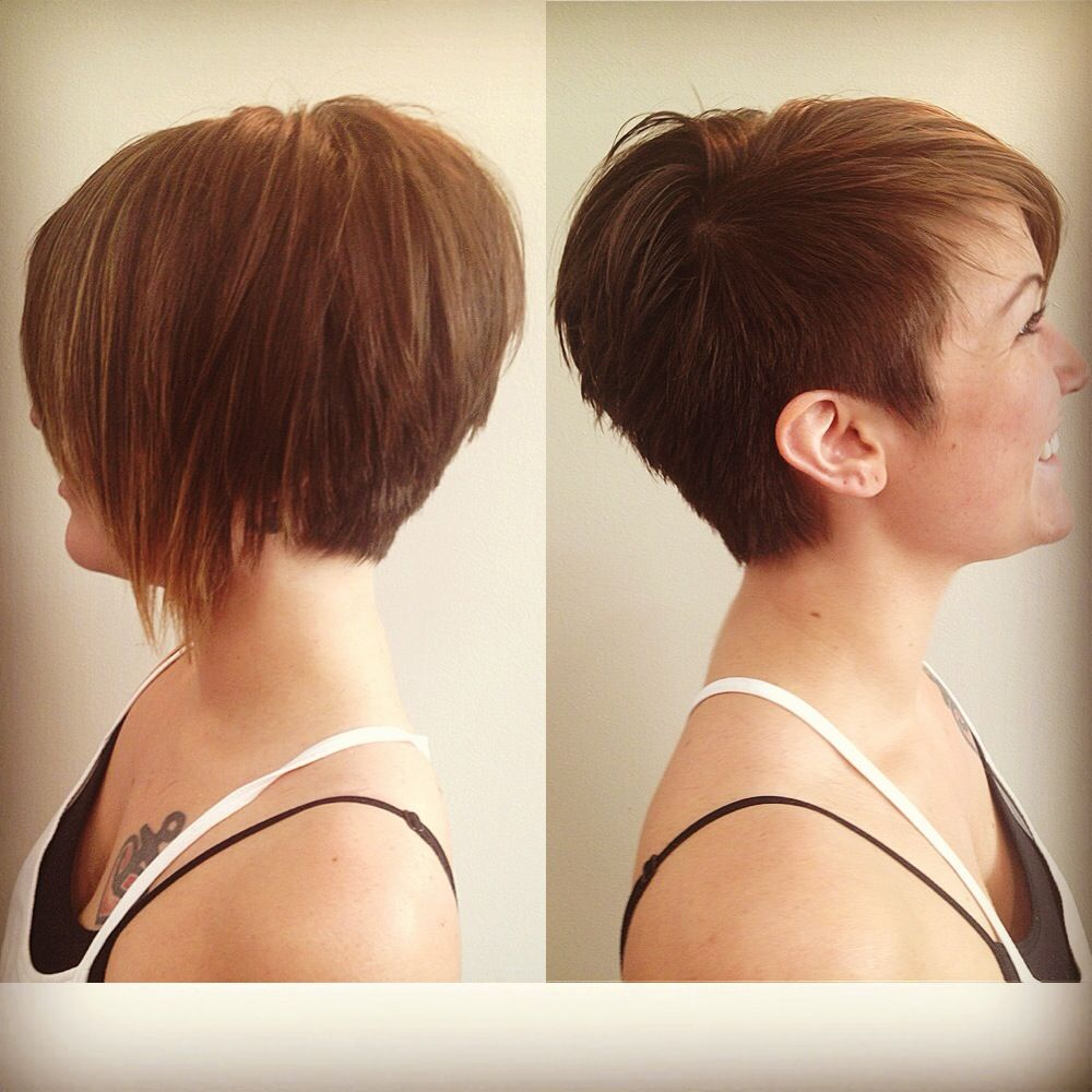 cutting styles for hair like the left picture for both sides asymmetrical pixie 7121