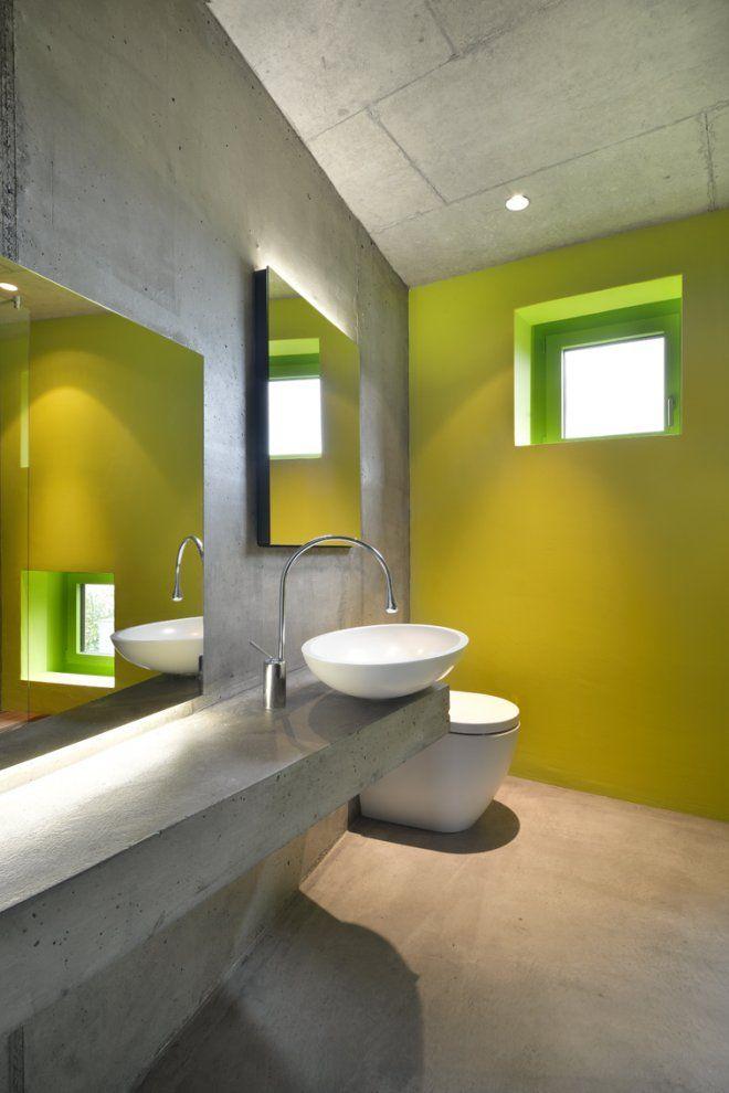 Good morning! \\ #minimalist #bathroom \\ Minergie® duplex house by: L3P Architekten \ Aargau, Switzerland