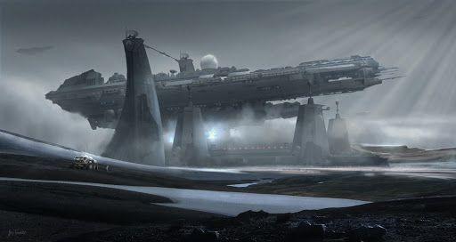 Spaceship art by Alex Tornberg