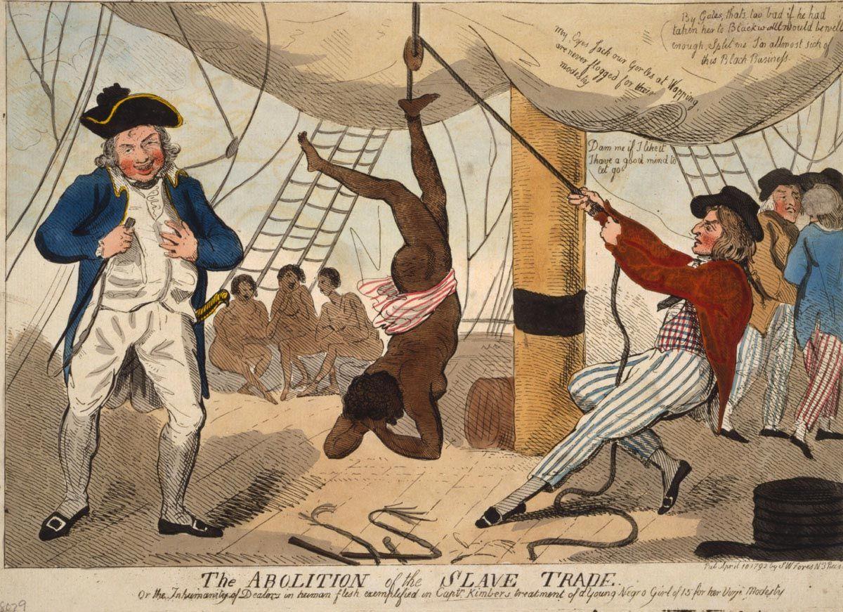 slave trade nude woman châtiment navire négrier
