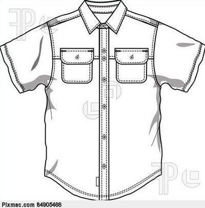button down shirt coloring page