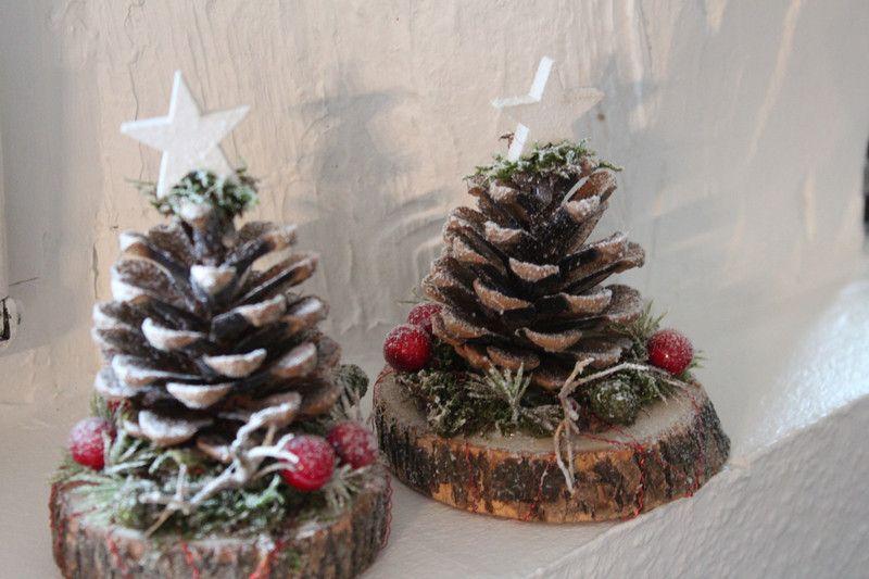 weihnachtsdeko zapfentanne deko tisch ein designerst ck von die pusteblume bei dawanda. Black Bedroom Furniture Sets. Home Design Ideas