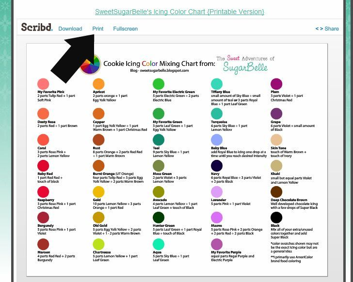 Color Mixing Chart To Use (I'M Guessing) Wilton Paste Colors To