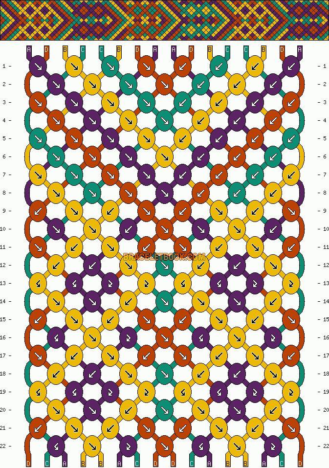 722ba8eeb4db8 Aztec bracelet pattern | Just For Funzies | Friendship bracelets ...