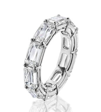 Ashoka baguette cut diamond eternity ring
