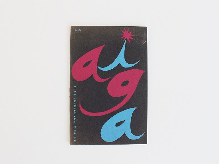 Display | AIGA Journal, Original Alvin Lustig Cover | Modern and ...