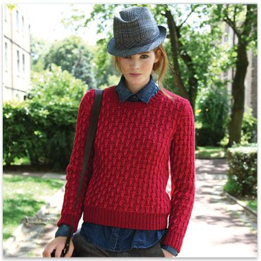 modele tricot pull col rond