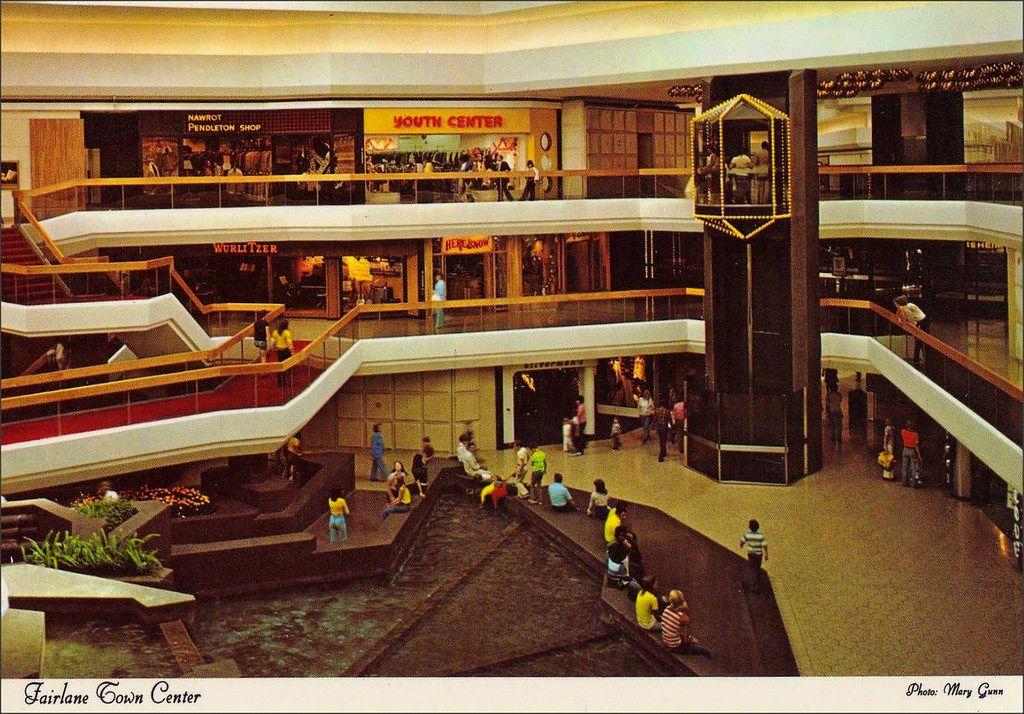 Fairlane town center shopping mall dearborn michigan 1970s