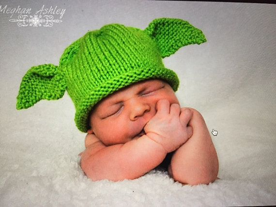 Newborn Yoda Hat by CozyCuteandCo on Etsy (With images ...