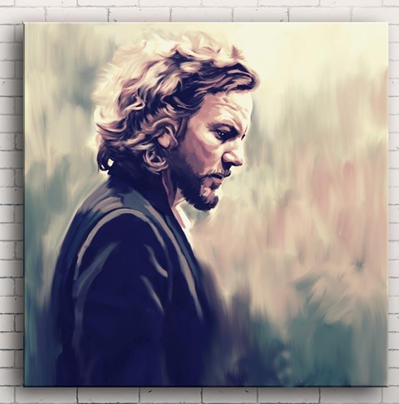 Eddie Vedder Original Oil Painting Art 24 Inch Art Painting Art Painting Oil Eddie Vedder Portrait