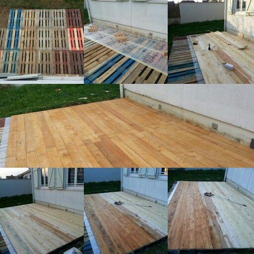 Création du0027une terrasse en bois de pallettes terrasses