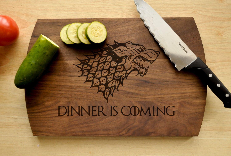 Personalized Cutting Board - Engraved Cutting Board, Custom Cutting Board, Wedding Gift, Housewarming Gift, Anniversary Gift, Engagement #gameofthrones