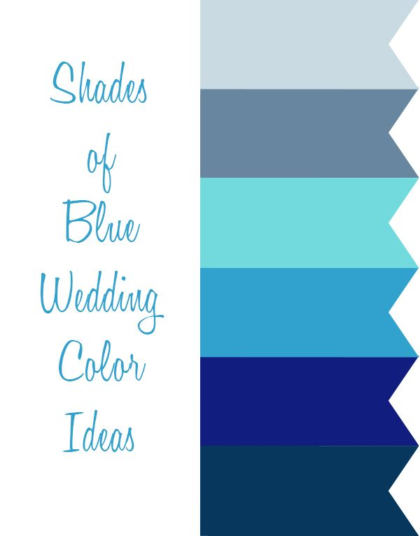 3dce63d0351c 6 Perfect Shades of Blue Wedding Color Ideas and Wedding Invitations ...