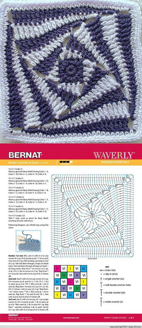 Квадрат. | tejidos | Pinterest | Puntos crochet, Patrón de ganchillo ...
