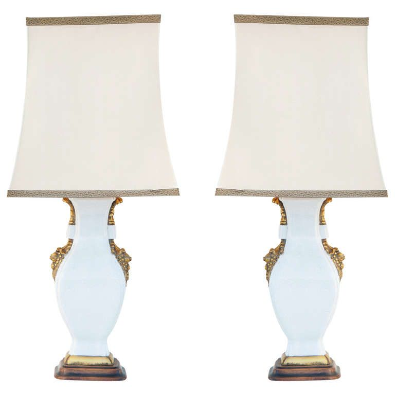 Pair of Porcelain Gigantic Table Lamps | From a unique