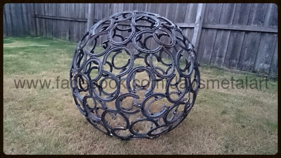 Horse shoe ball Metal Art  Design in Geelong