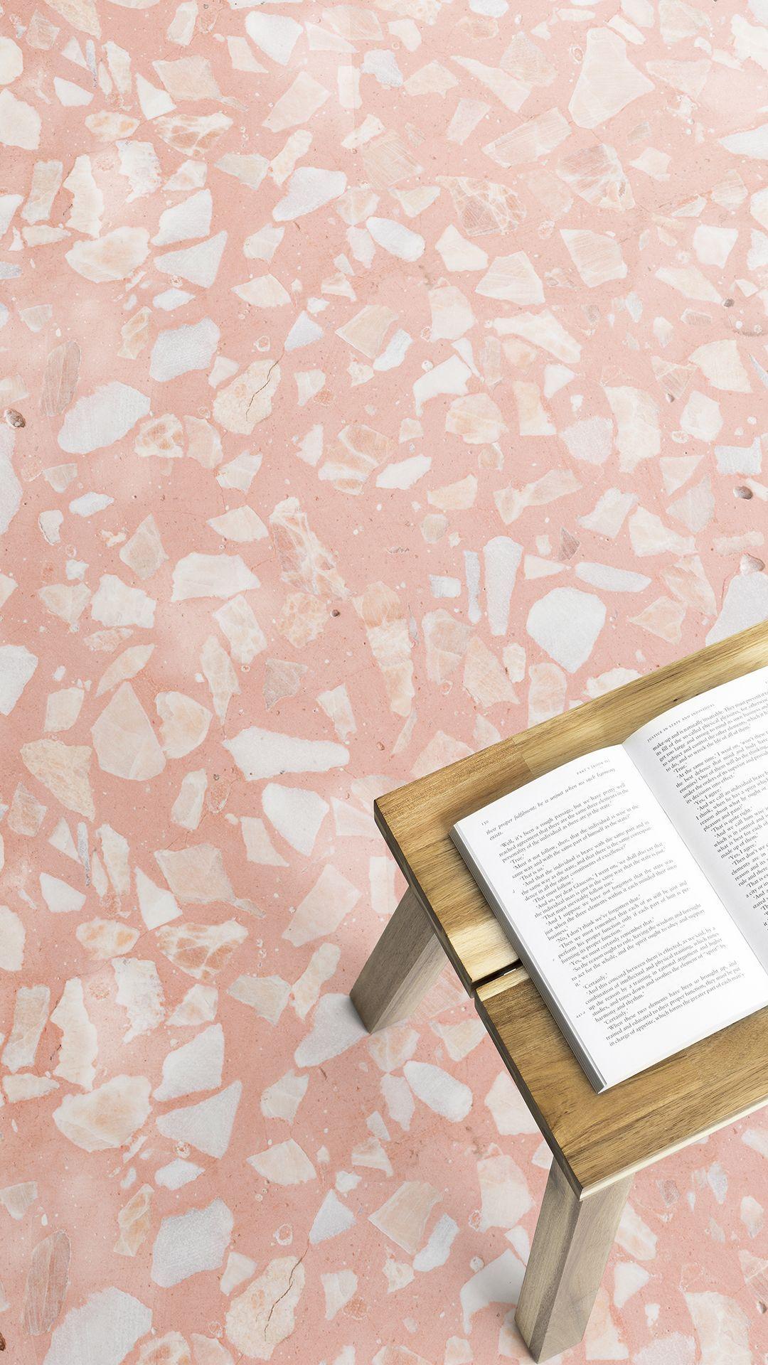Pink Terrazzo Vinyl Flooring