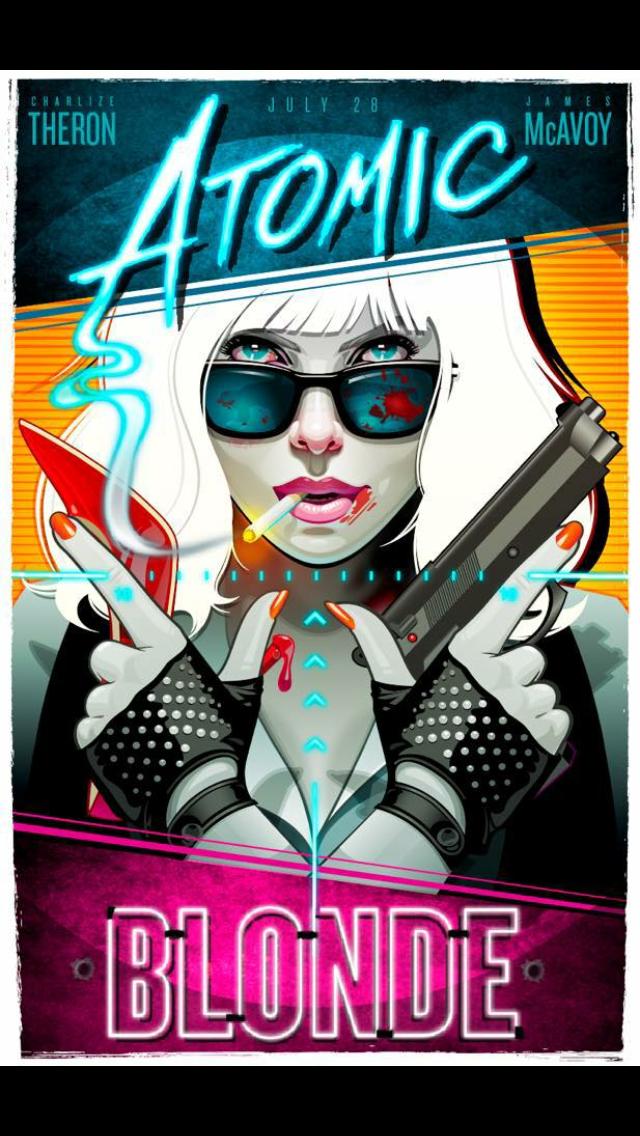 Atomic Blonde 2017 Movie Poster Art Alternative Movie Posters