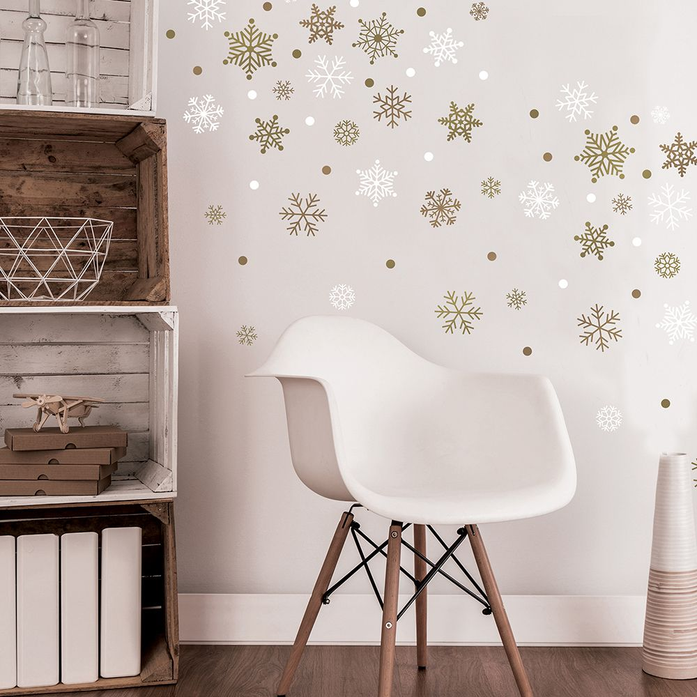Gold Snowflake Wall Decals Wall decals, Home decor, Interior