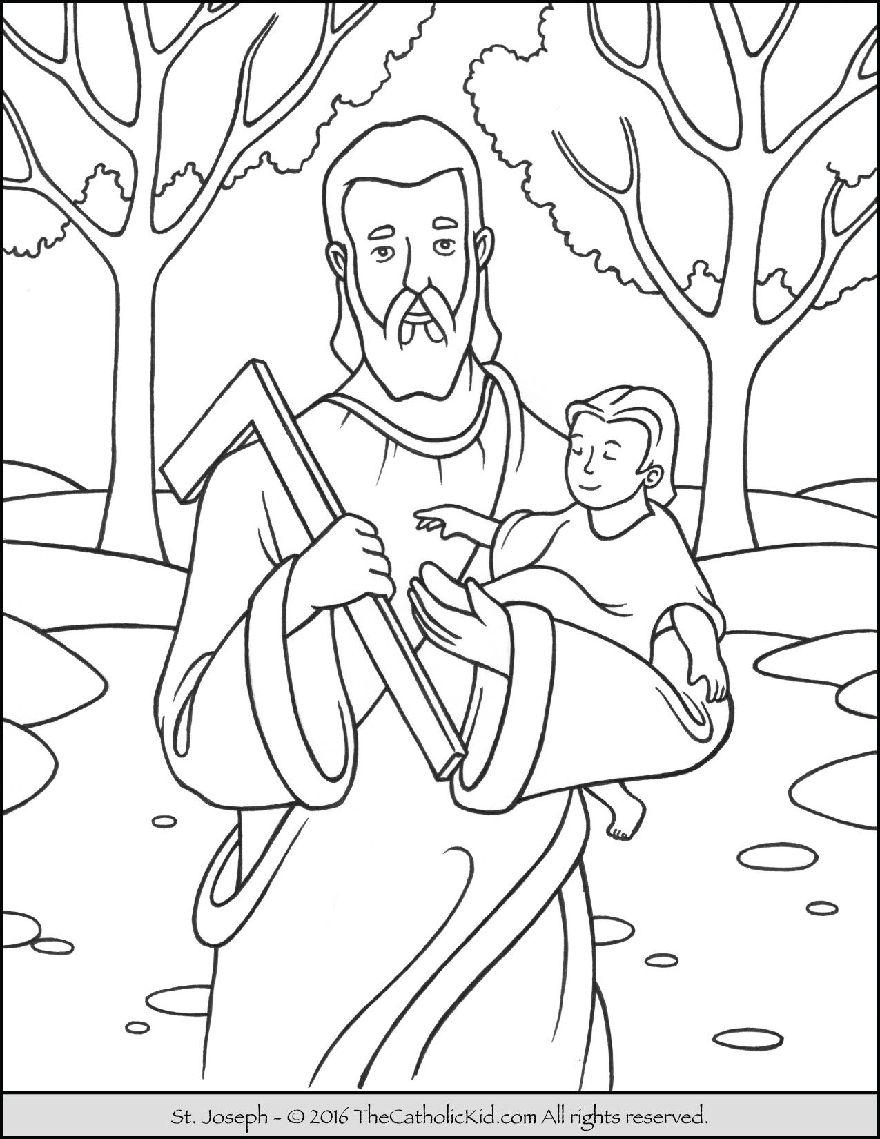Saint Joseph Coloring Page The Catholic Kid Coloring Pages For