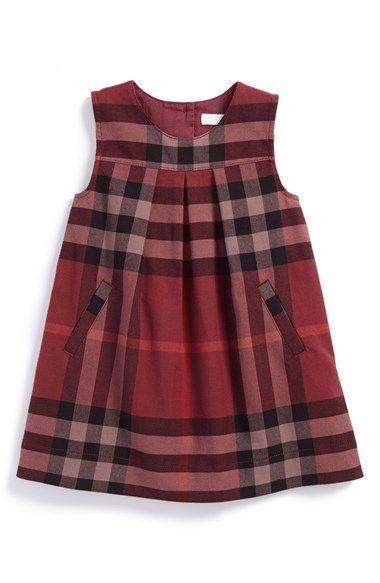 Burberry Check Print Sleeveless Dress Baby Girls