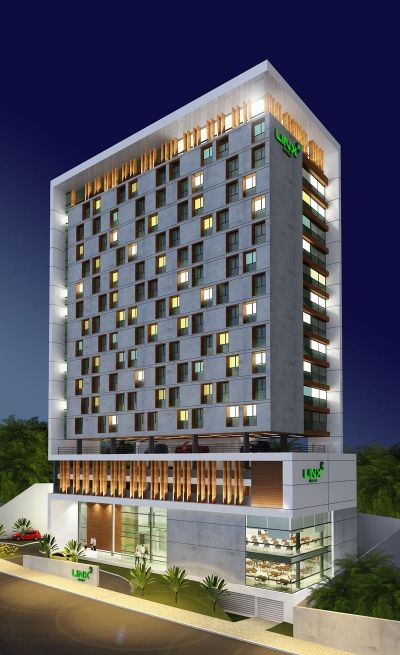 Photo hotel modern high rise pinterest for Fachadas de hoteles de lujo